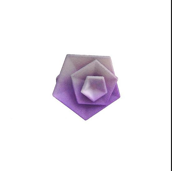 OUTLET - Vertigo ring -Grey & Lilac