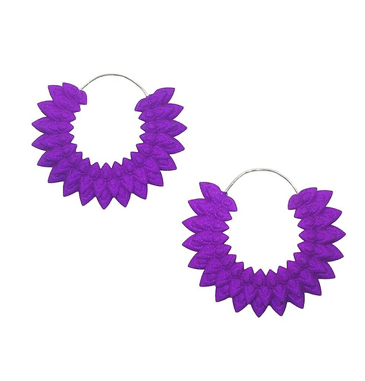 OUTLET Dahlia earrings - purple