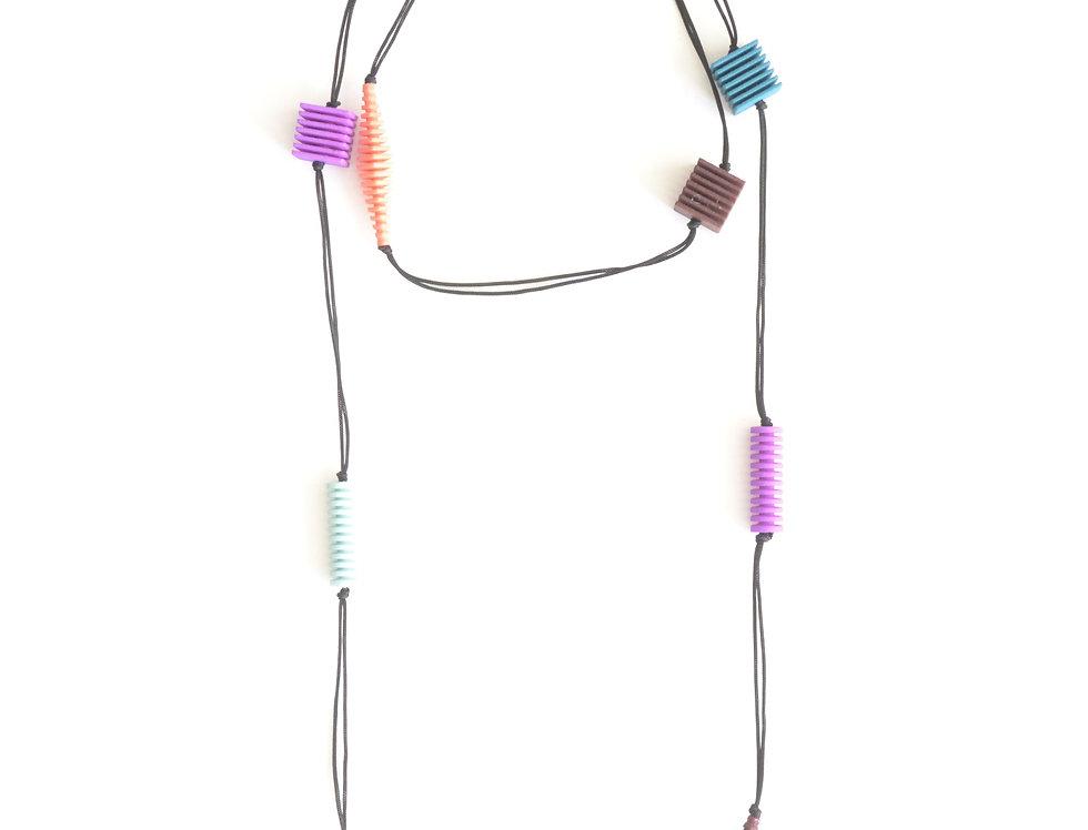 OPTICAL - Long necklace- Pastel colours