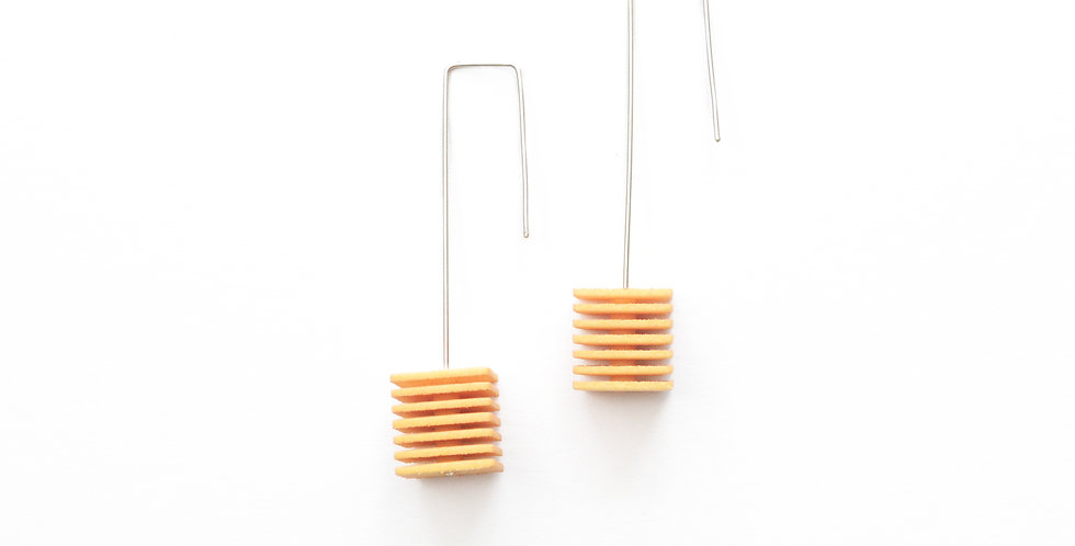 designer fashion earrings in yellow