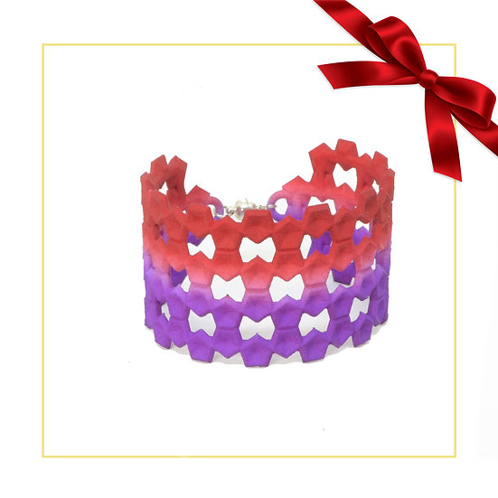 special edition red and purple christmas bangle