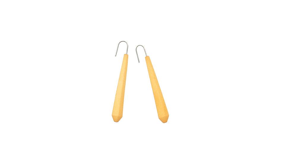 citrus yellow long earrings