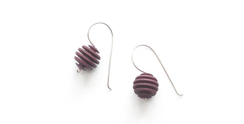 plum purple exotic earrings
