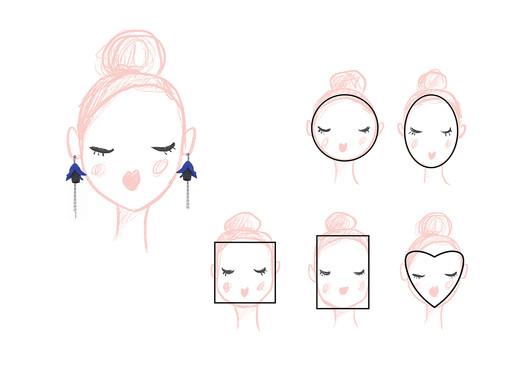 ORECCHINI E FORMA DEL VISO - Una guida su come scegliere gli orecchini per la forma del tuo viso.