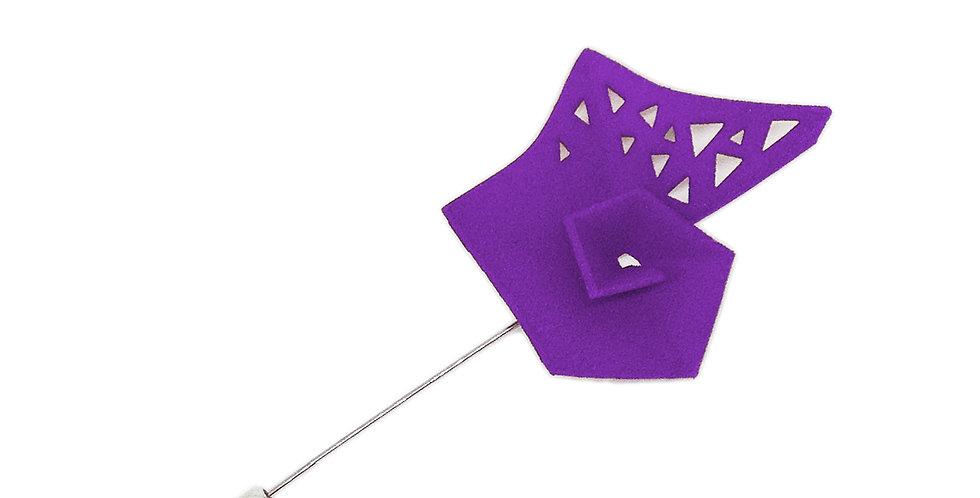 OUTLET - Vertigo pin - Purple