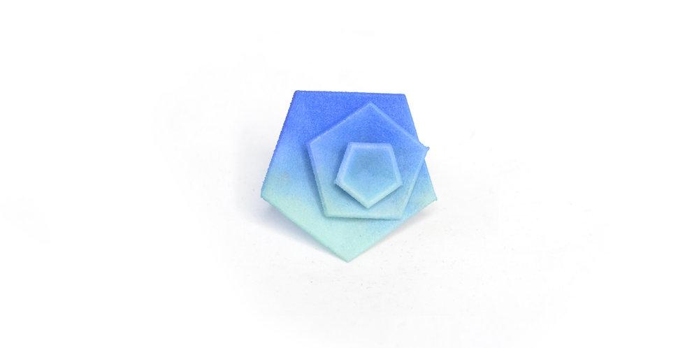 Vertigo ring - Blue & aqua