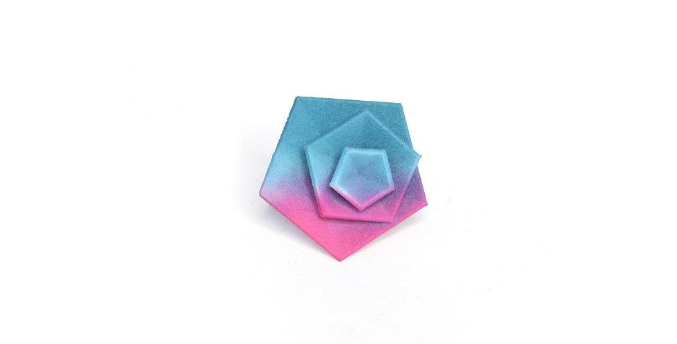 Vertigo ring - Fuchsia & teal