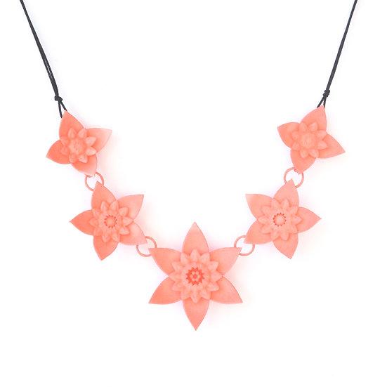 DAHLIA - necklace - Coral pink