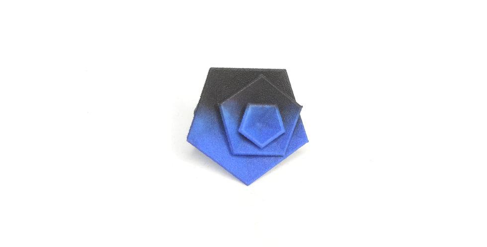 Vertigo ring - Black & blue