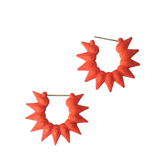 orange hoops 3D printed