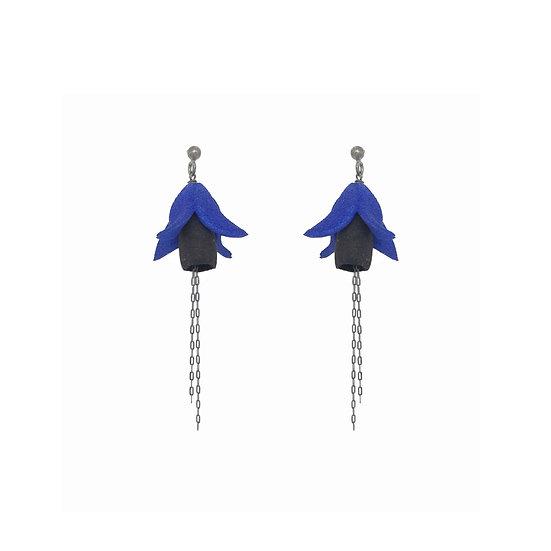 FUXIA Earrings - Black & blue