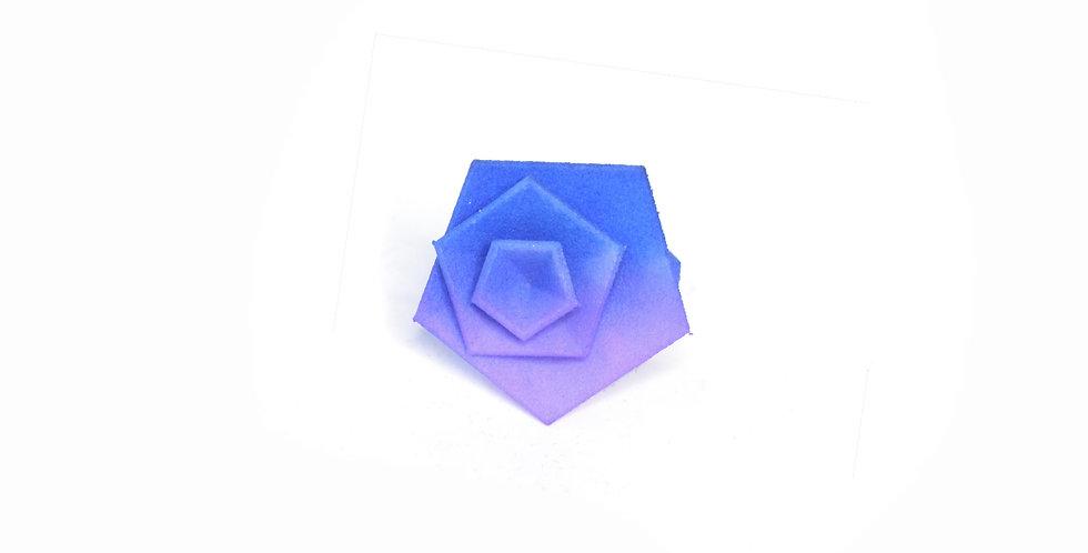 Vertigo ring - Blue & lilac