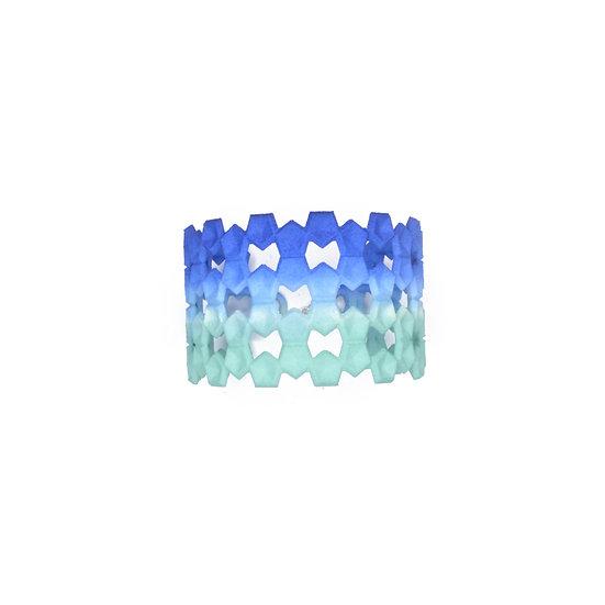 LACE Bangle - Aqua & blue