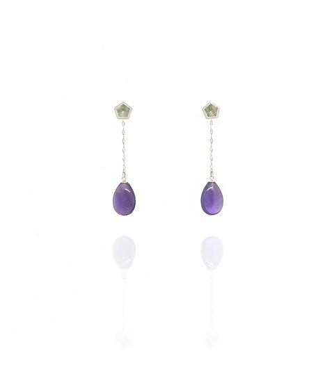 Dangle & stud earrings - Amethyst