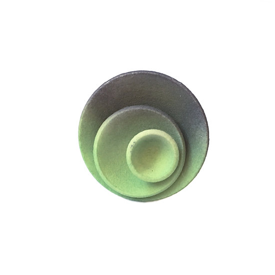 OUTLET - Round ring - Green Grey