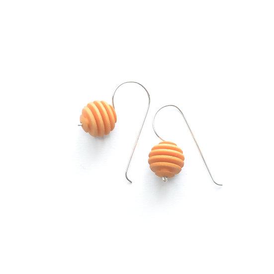 Pantone citrus yellow designer earrings