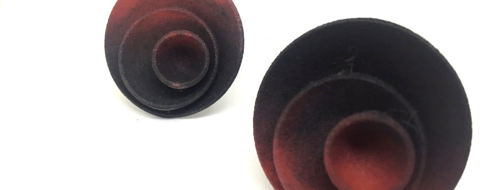 OUTLET - Round ring - Red Black
