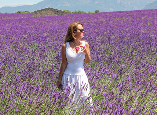 Lavender fields with Elisa Chisana Hoshi