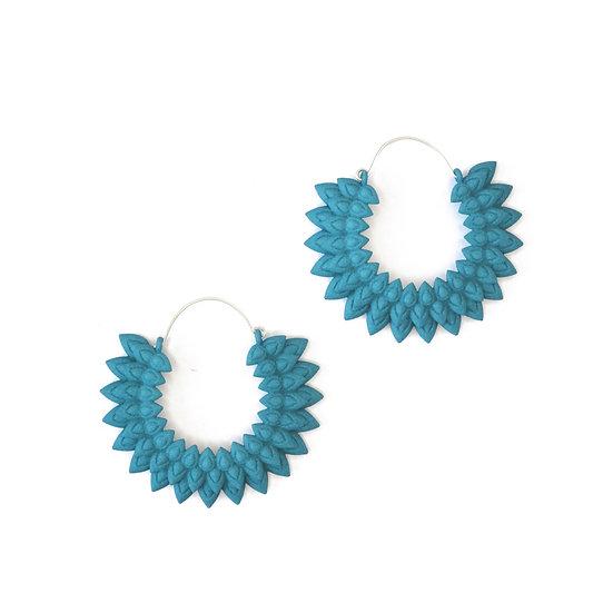 Dahlia earrings - Dark teal