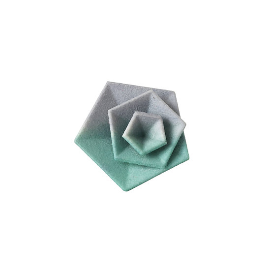 OUTLET - Vertigo ring - Grey aqua