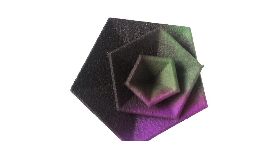 OUTLET - Vertigo ring - Black green purple