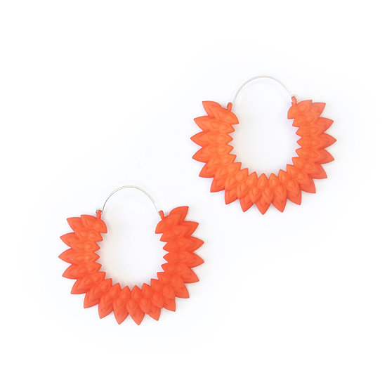 Dahlia earrings - Tangerine