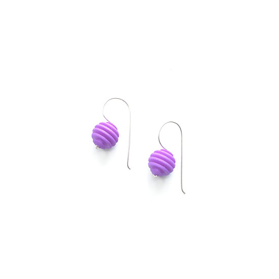 lilac sphere dangling earrings
