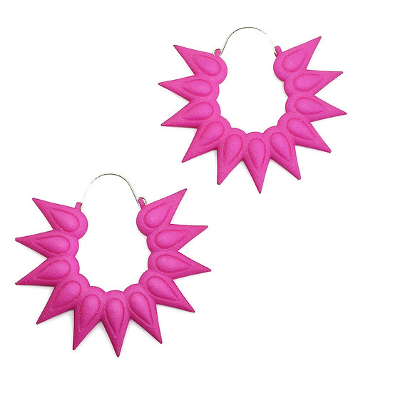 Fuchsia earrings extralarge