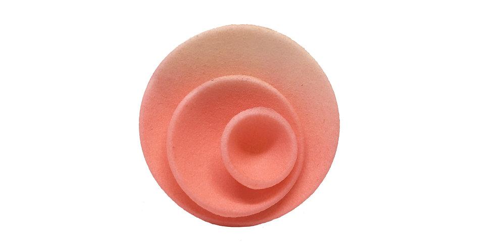 Round ring - Coral pink