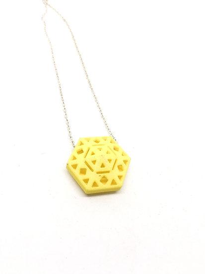 OUTLET - Hexa pendant - Yellow