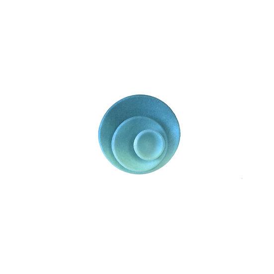 Round ring - Aqua & teal