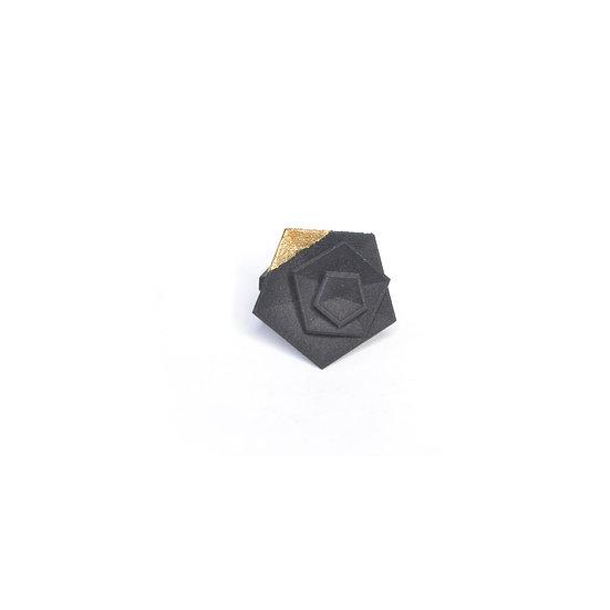 Vertigo ring - gold leaf