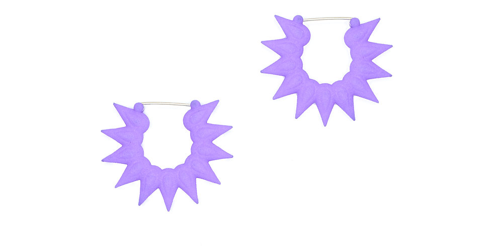 lilac earrings flower design