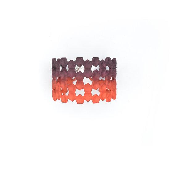 LACE Bangle - Plum & tangerine