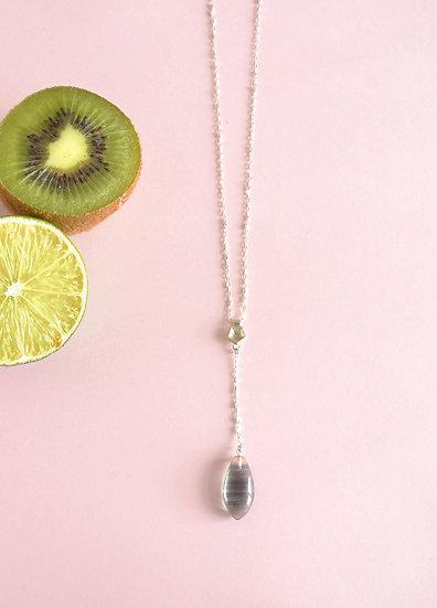 Purple & green Fluorite - Vertigo mini necklace