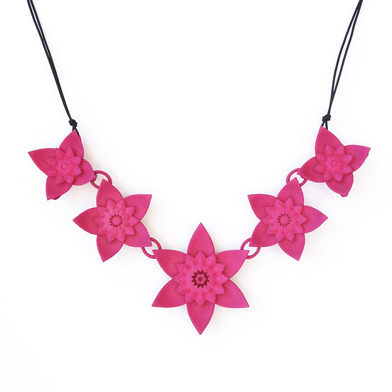 contemporary statement necklaces hot pink