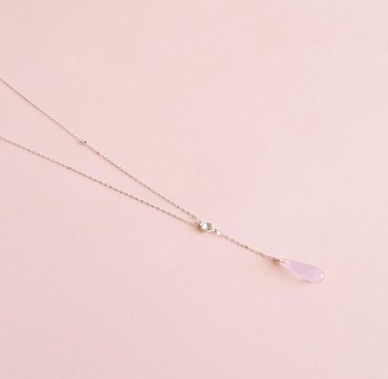 Rose quartz - Vertigo mini necklace