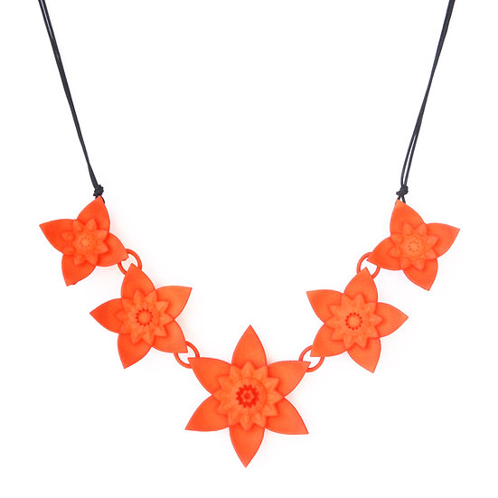 DAHLIA - necklace - Tangerine