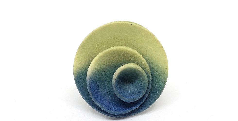 OUTLET - Round ring - Green Sky grey