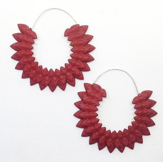 OUTLET Dahlia earrings - dark red
