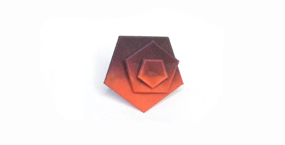 Vertigo ring - Tangerine & plum