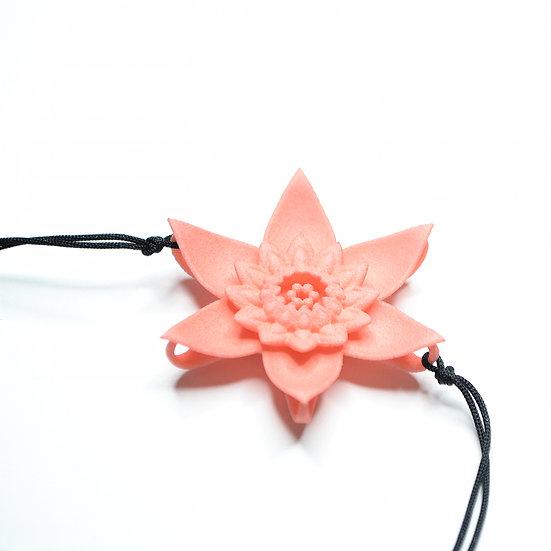 large pink flower bracelet
