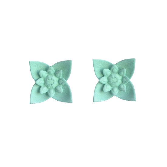 DAHLIA - stud earrings - Aqua