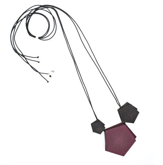 Vertigo 3 element Necklace - plum