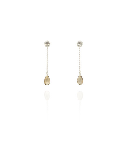 Dangling & stud earrings - Smoky quartz