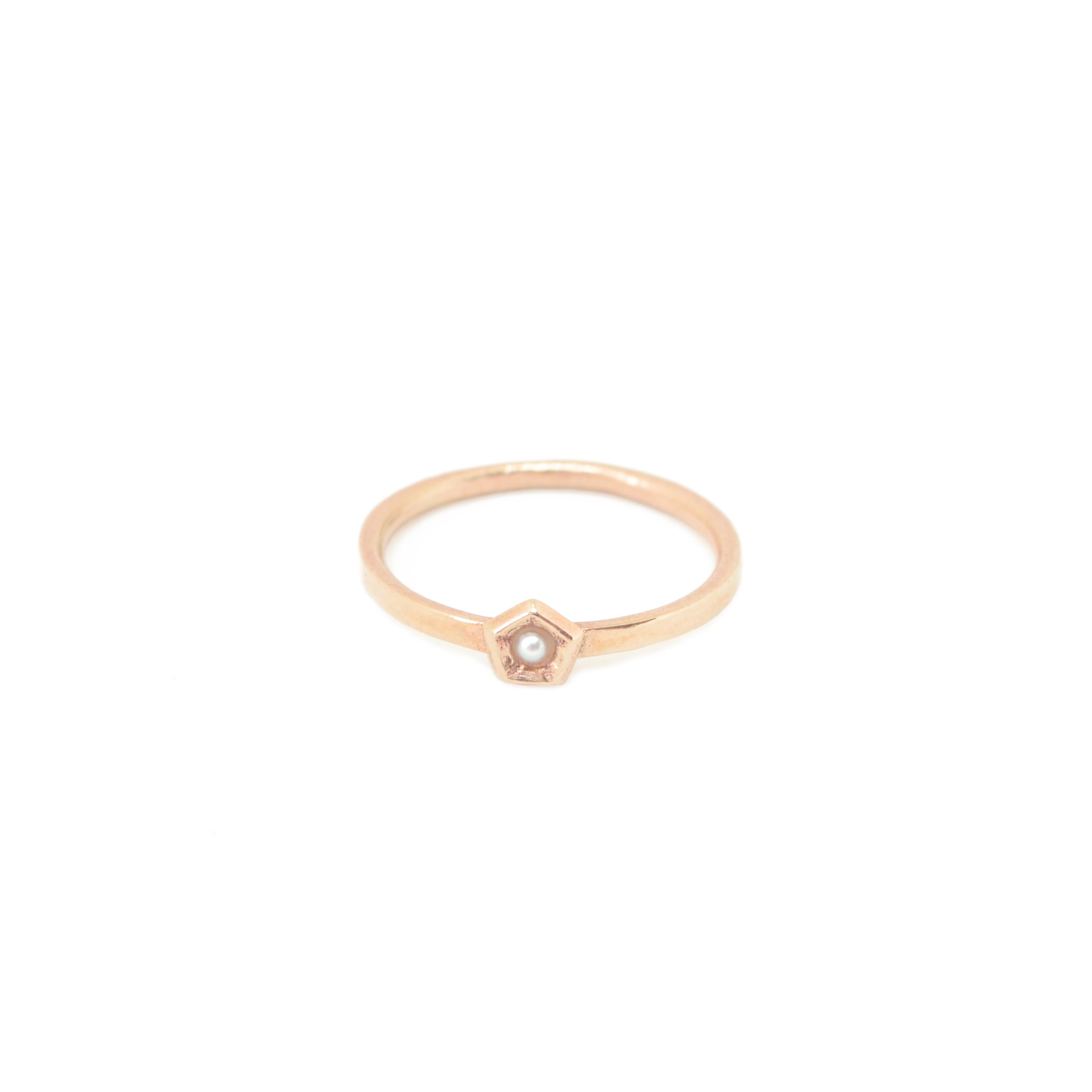 ROSE bronze w pearl 1 elem