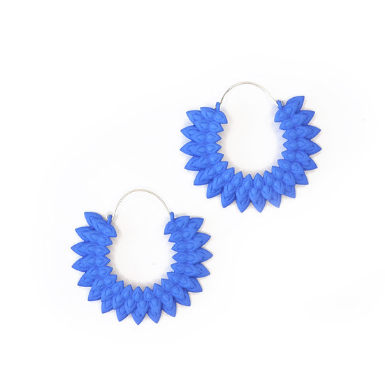 Dahlia earrings - Blue