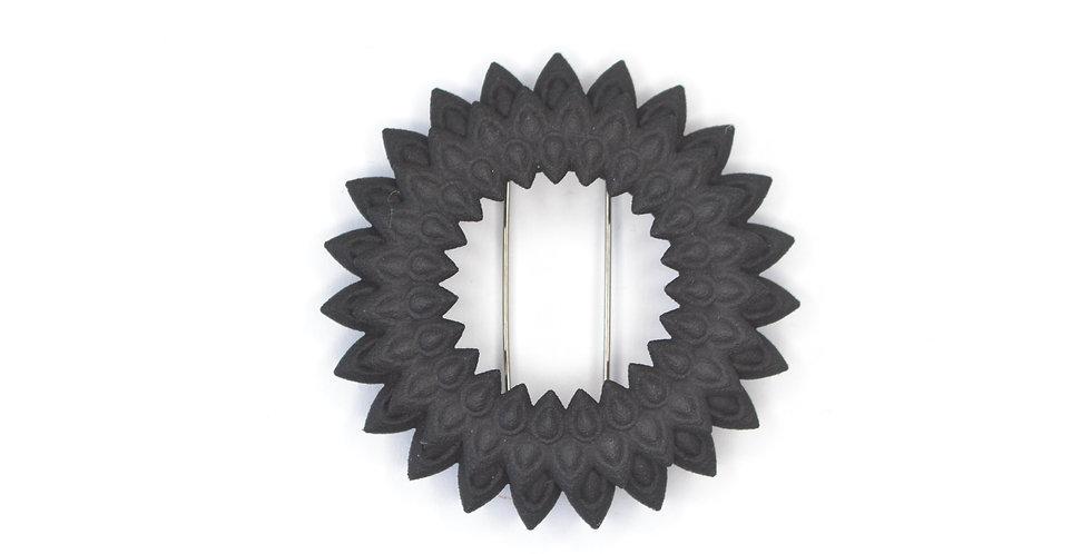 black dahlia brooch