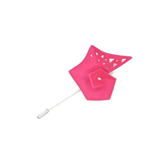 Pinwheel Brooch - fuchsia pink