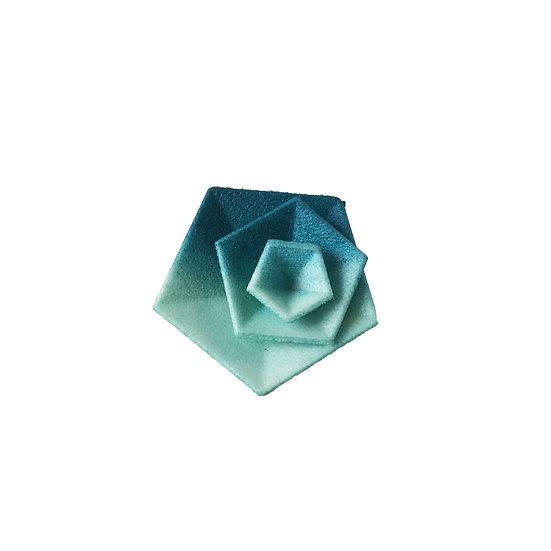 OUTLET - Vertigo ring - Teal aqua